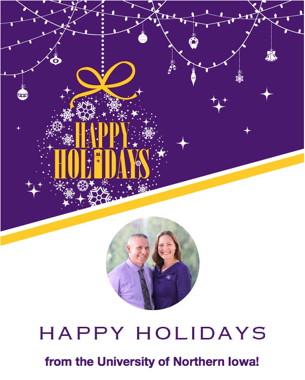 Happy Holidays from the University of Northern Iowa