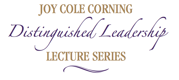 Joy Cole Corning Distinguished Lecture Series